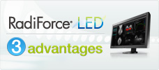 3 advantages of RadiForce monitors with LED backlights