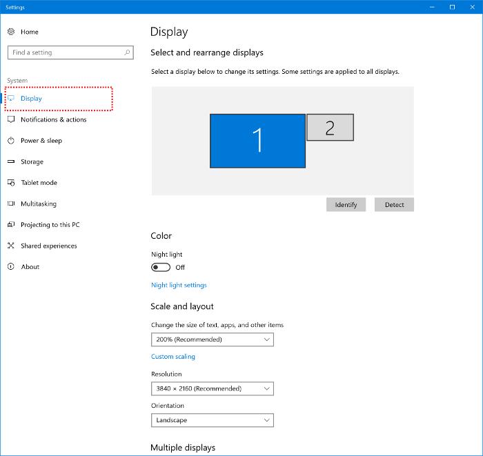 Changes in the Windows 10 Creators Update | EIZO
