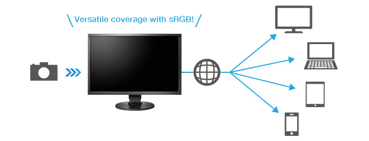 Versatile coverage with sRGB!