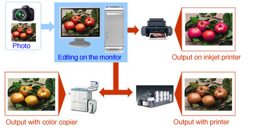 Photo printing color management