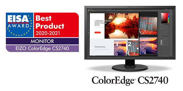 Best 4k Monitor 2021 EIZO ColorEdge CS2740 4K Monitor Wins EISA Monitor of the Year