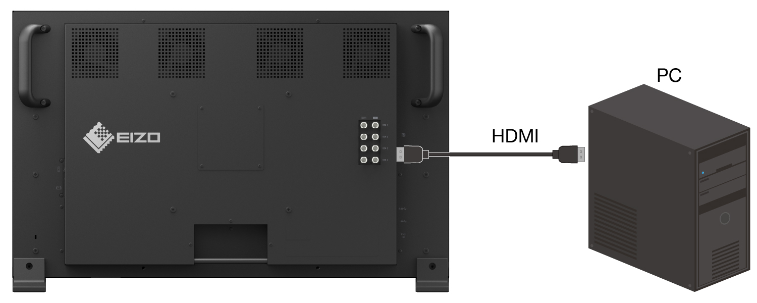 HDMI and DisplayPort Inputs