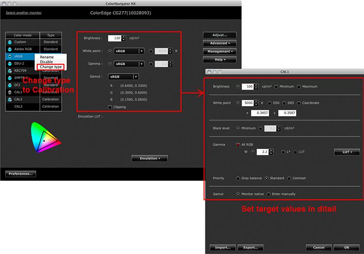 set parameters