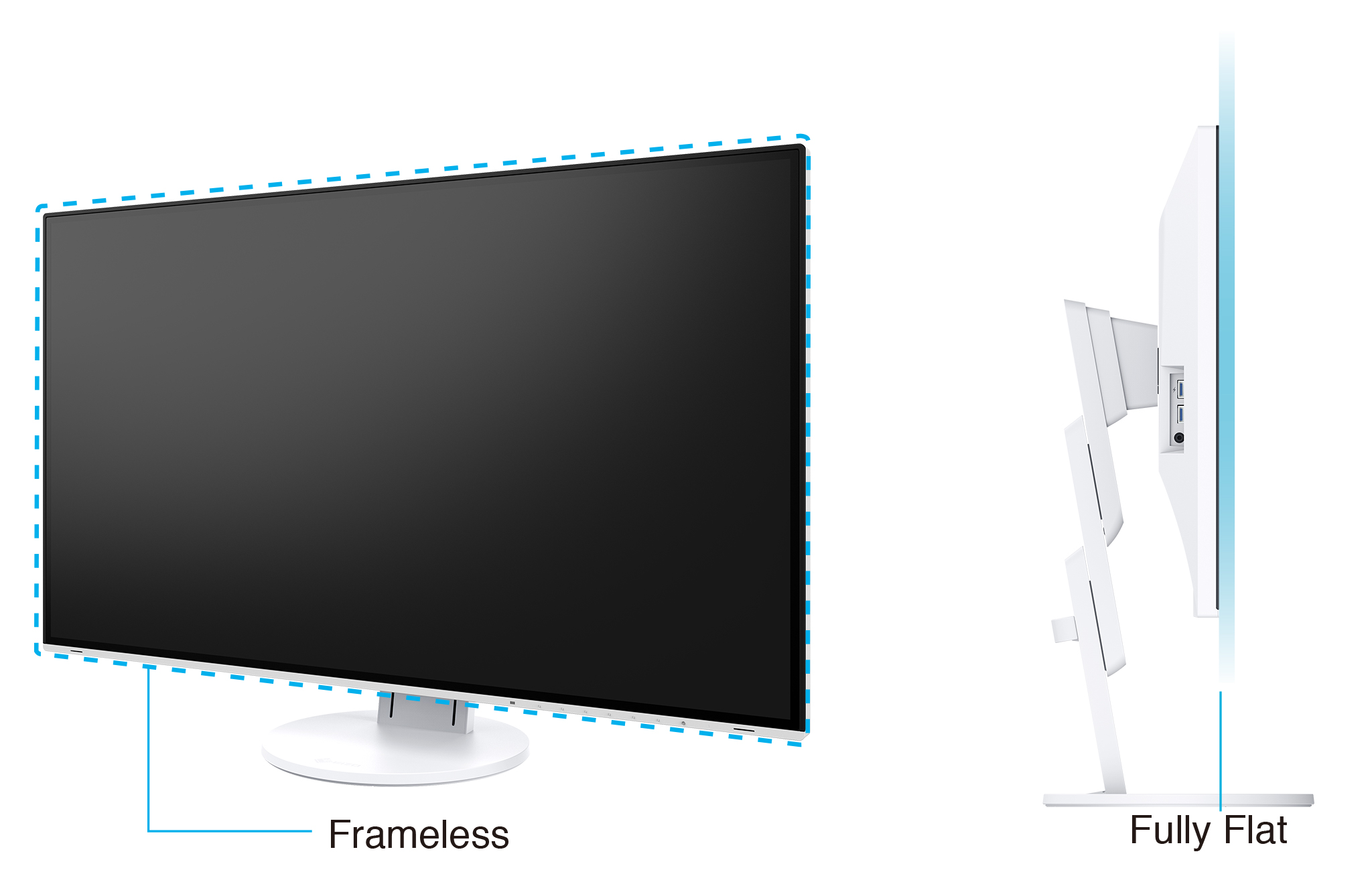 Fit 4K Resolution on Any Desk with this Fully Flat and Frameless Design