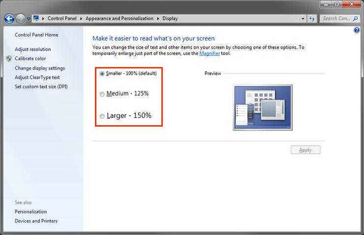 DPI scaling settings on Windows (HiDPI display) | EIZO