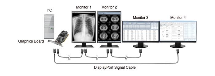 Compatibility between RadiForce monitors using DisplayPort