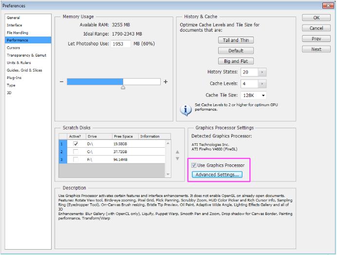 10-bit Display Method with Adobe Photoshop CS6 and Graphics