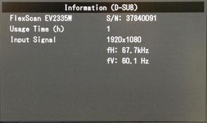 Confirm Serial Number in OSD Menu | EIZO